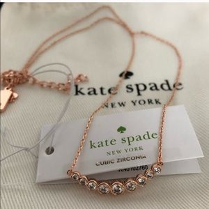 Kate Spade full circle arch rose gold necklace